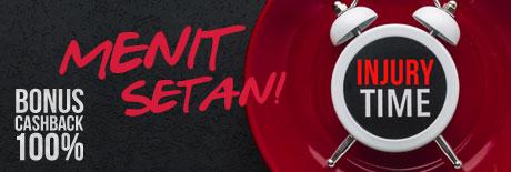 Promo Judi Bola 2019 Cashback 100% Sports Menit Setan
