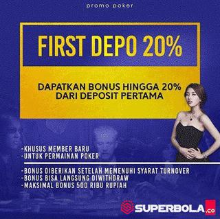 First Deposit 20% SuperPoker