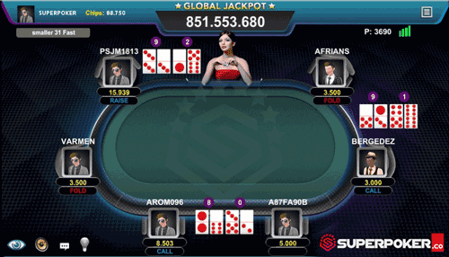 Tampilan Meja DominoQQ SuperPoker