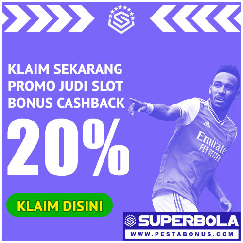 Promo Cashback Judi Slot20%