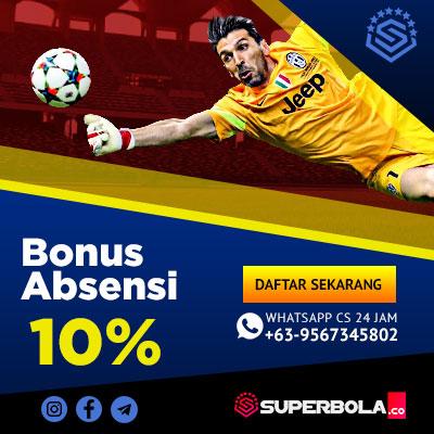Bonus Absensi 10%