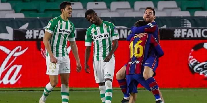 Hasil Betis Vs Barcelona, Messi CS Menang Tipis 3-2