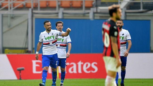Milan Vs Sampdoria: Rossoneri Tahan Imbang Sampdoria 1-1