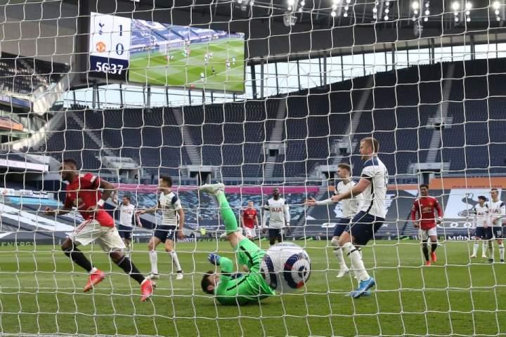 Pekan Ke-31 Liga Inggris 2020-2021, MU Tumbangkan Tottenham