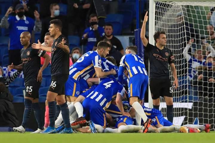 Brighton Vs Manchester City: Dicomeback Tuan Rumah, City Kalah 3-2